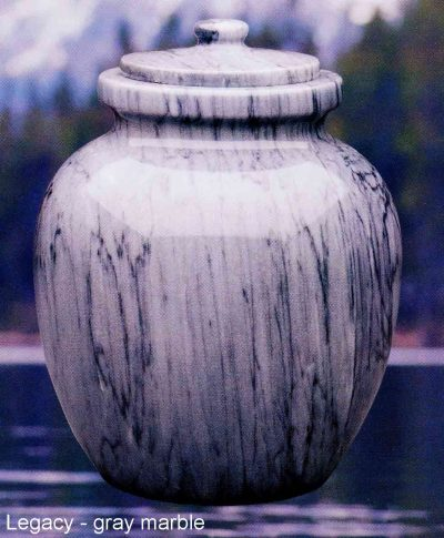 Legacy Gray Marble Urn