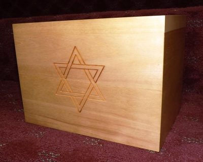 Stained Poplar with Star of David