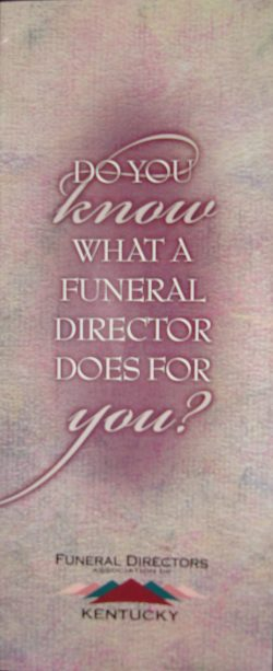what a funeral director does